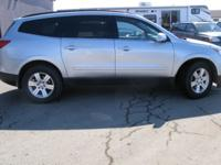 BEAUTIFUL SILVER METALLIC TRAVERSE LT AWD. DOES HAVE A
