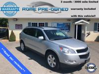 Silver Ice Metallic 2012 Chevrolet Traverse LT 1LT AWD
