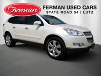 New Price! Clean CARFAX. White 2012 Chevrolet Traverse