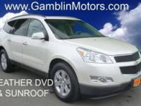 Like new White Diamond Chevy Traverse! GM CERTIFIED.
