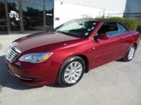 1 Owner CLEAN CARFAX, This 2012 Chrysler 200 Touring