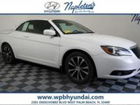 2012 Chrysler 200 CARFAX One-Owner.Odometer is 16986