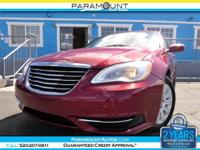 2012 CHRYSLER 200 SEDAN FEATURING THE VERY POWERFUL