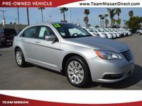 Options:  2012 Chrysler 200 Lx Silver/ V6 3.6L