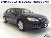 Options:  2012 Chrysler 200 Lx|Black Clearcoat|*Power