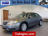 CARFAX 1 Owner 2012 CHRYSLER 200 4DR SDN LX with just