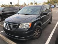 This 2012 Chrysler Town & Country in Brilliant Black