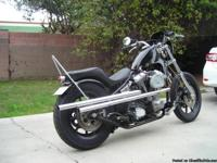"2012 Evo custom chopper. The engine is a 80"" Evo. The"