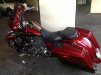 Chromed out custom harley with hardbags , 8speakers,