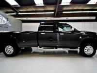 2012 RAM 3500 LARAMIE LIMITED 4X4 DRW: BLACK/ DARK