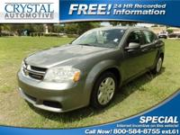 -CARFAX ONE OWNER- This 2012 Dodge Avenger SE is value
