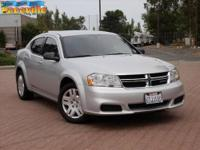 This well maintained 2012 Dodge Avenger in Silver has