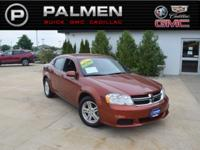Pearl 2012 Dodge Avenger SXT FWD 6-Speed Automatic 2.4L