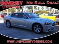 Charger SE, 4D Sedan, 3.6L V6, Automatic, Bright Silver
