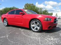 Red 2012 Dodge Charger R/T RWD 5-Speed Automatic HEMI