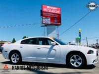 Clean CARFAX. Bright White Clearcoat 2012 Dodge Charger