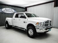 2012 RAM 3500 LARAMIE LONGHORN 4X4 DRW : BRIGHT WHITE/