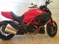 Very clean 2012 Diavel all stock except for aftermarket