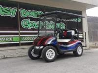 Show your Patriotic Spirit with this Golf Cart! With