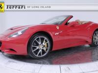 2012 Ferrari California FERRARI APPROVED CERTIFIED