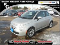 2012 Fiat 500 Sport Nero Black I4 1.4L Gas FWD If you