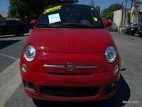 Options:  2012 Fiat 500 Sport 2Dr Hatchback|Red|Abs -