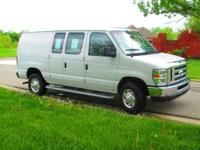 One owner 2012 Ford E-250 Cargo Van in Oxford White,