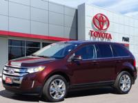 Clean CARFAX. Brown 2012 Ford Edge Limited FWD 6-Speed