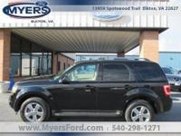 Black 4x4 Escape Limited Loaded. Heated leather Power