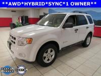 ONE OWNER, SYNC, Escape Hybrid, 4D Sport Utility, 2.5L