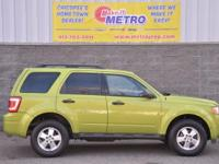 2012 Ford Escape XLT  in Lime Squeeze Metallic, CLEAN