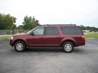 2012 Ford Expedition EL 2wd XLT. Burgandy/Light Tan.