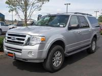 Clean CARFAX. Silver 2012 Ford Expedition EL XLT 4D