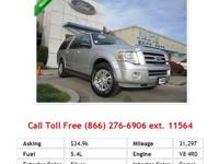 2012 Ford Expedition ElXlt 4WD 4dr XLT SUV White V8