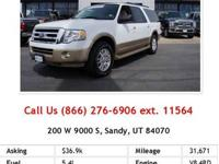 2012 Ford Expedition ElXlt XLT SUV White V8 5.4L