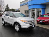 ONE OWNER, 2012 FORD EXPLORER, V6 3.5 L, 3RD ROW