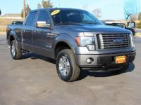 Clean CARFAX. This 2012 Ford F-150 FX4 in Sterling Gray