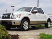 2012 Ford F-150 King Ranch in White Platinum Metallic