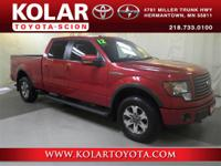 F-150 FX4, 4D SuperCrew, 4WD, ONE Owner Per AUTO CHECK