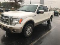 Clean CARFAX. White 2012 4D SuperCrew Ford F-150 Lariat