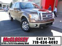 ONE OWNER! 2012 Ford F-150 Lariat 4WD, Super Crew Cab,