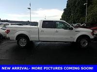 Clean CARFAX. Oxford White 2012 Ford F-150 Lariat 4WD