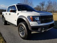 2012 Ford Raptor  It is parked in a climate control