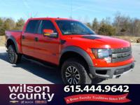 2012 Ford F-150 SVT Raptor 6.2L V8 EFI 16V Race Red