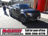 This 2012 Ford F-150 SVT Raptor comes with 4WD, Crew