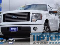 2012 Ford F-150 in White exterior and Black Leather,