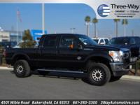 Options:  2012 Ford F-250Sd|Black|4Wd. The Three-Way