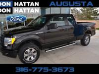 Black 2012 Ford F-150 FX4 4WD 6-Speed Automatic
