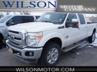 CARFAX One-Owner. Clean CARFAX. White 2012 Ford F-350SD
