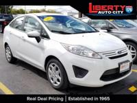 Clean CARFAX. Oxford White 2012 Ford Fiesta S FWD